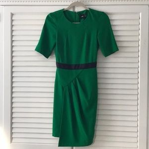 Emerald 40's inspired 3/4 sleeve dress